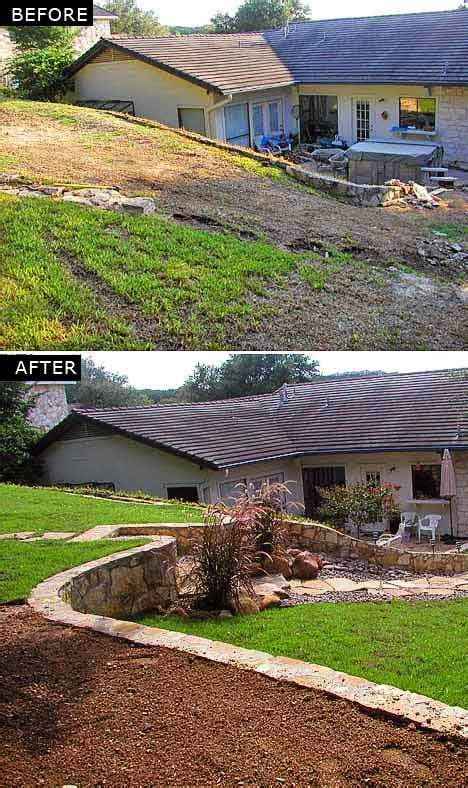 landscaping a sloped backyard backyards how to make your and yards on pinterest