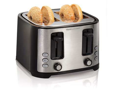 Bagel Toaster by Hamilton Wide 4 Slice Slot Toaster
