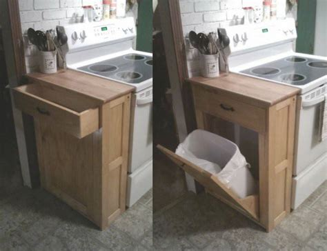 kitchen cabinet recycling center diy wood tilt out trash or recycling cabinet tutorial by