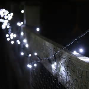 100 white led solar fairy lights 10 metre string
