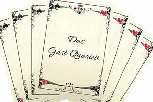 Quartett Selber Machen : hochzeitsspiel gast quartett ~ Eleganceandgraceweddings.com Haus und Dekorationen