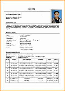 4 latest cv format sample ledger paper With latest style resume format