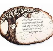 Personalisierte Stammbaum Holz Verbrannten Baum St&252ck Von