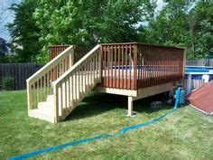 8x8 above ground pool deck plans deck n out on above ground pool decks above