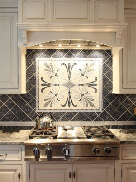 kitchen ceramic backsplash tile ideas black  mosaic