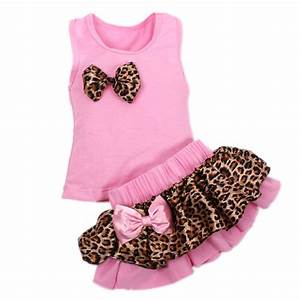High quality fashion baby girls clothes sets leopard ...