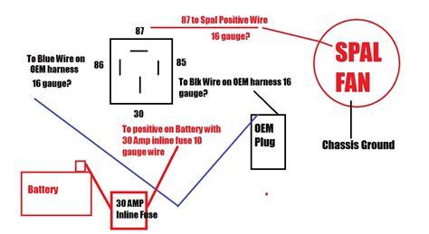 Spal Fan Relay Wiring Help Honda Tech