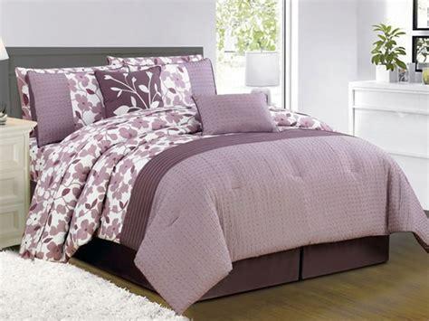 leila 10pc comforter set purple 2 sizes
