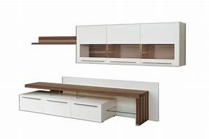 Möbel Online Shop : gwinner wohndesign wohnwand bellano be30 wei nussbaum ~ Pilothousefishingboats.com Haus und Dekorationen