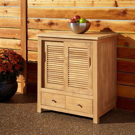 Outdoor Sideboard Cabinet by 72 Quot Touraine Teak Outdoor Kitchen Cabinet Outdoor