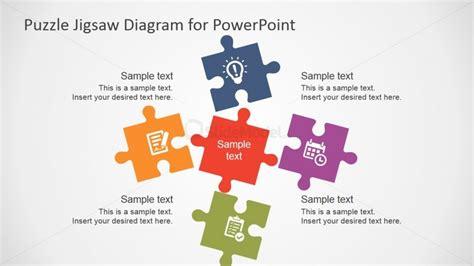 piece puzzle template  powerpoint slidemodel