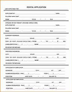5 rental application form wordreference letters words for Sample rental application word document