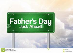 Father's Day Green Road Sign Stock Illustration - Image ...