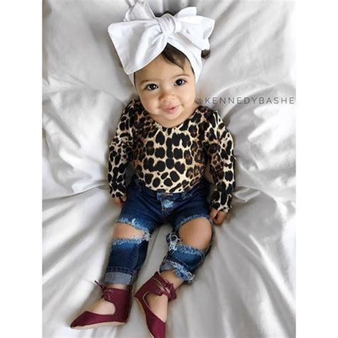 Cute! Except Iu0026#39;d rather have regular jeans not destroyed ones. | Baby Girl Clothes | Pinterest ...