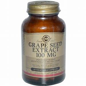 Solgar  Grape Seed Extract  100 Mg  60 Vegetable Capsules