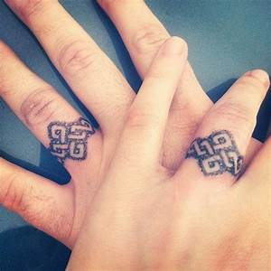 mens wedding ring tattoos designs With tattoo wedding ring design