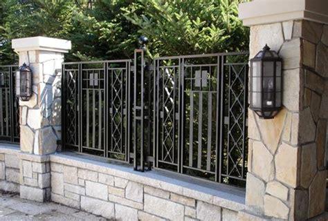 model pagar besi minimalis lengkap  gambar