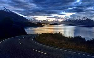 Landscape, Road, Mountains, Clouds, Wallpapers, Hd, Desktop, And, Mobile, Backgrounds