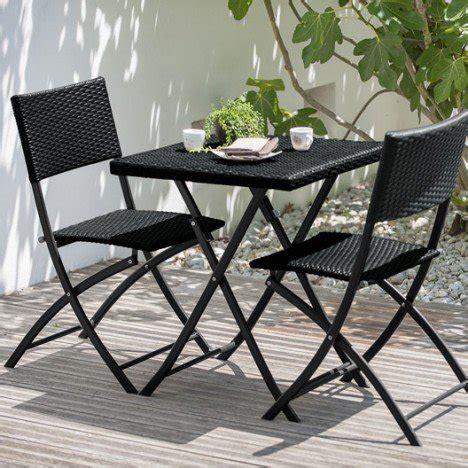 table et chaise de jardin en resine tressee salon de jardin set résine tressée noir 1 table 2