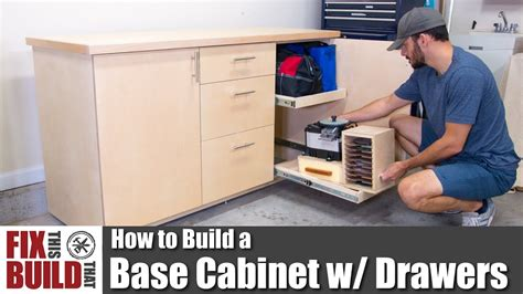 how to build kitchen wall cabinets how to build a base cabinet with drawers diy shop 8518