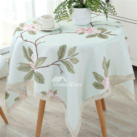 wholesale tablecloths floral cotton linen