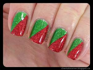 Chantal s corner red and green christmas nails with