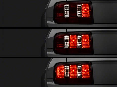 05 mustang sequential tail lights raxiom mustang smoked coyote tail lights and sequential