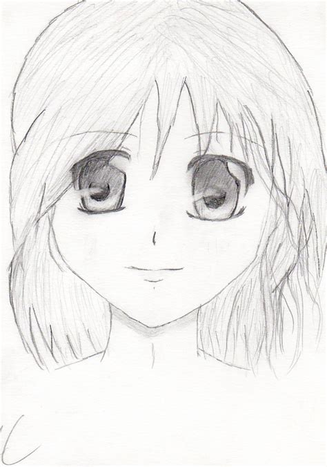Today, we show you these beautiful illustrations of anime or manga girls art and drawings. simple anime girl by mercedes97 on DeviantArt