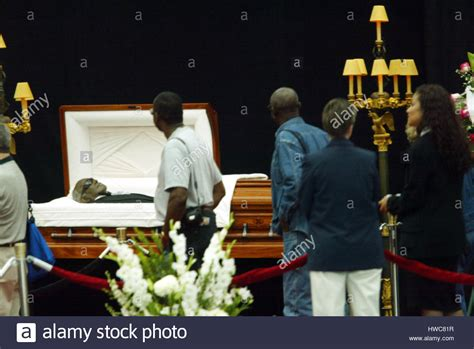 mourners view the casket of singer charles at the los
