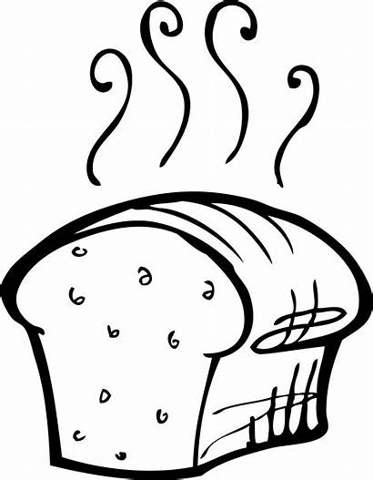 Bread Loaf Drawing Line Yeast Recipe Illustration