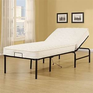 electric, adjustable, bed, frame, xl, folding, metal, twin