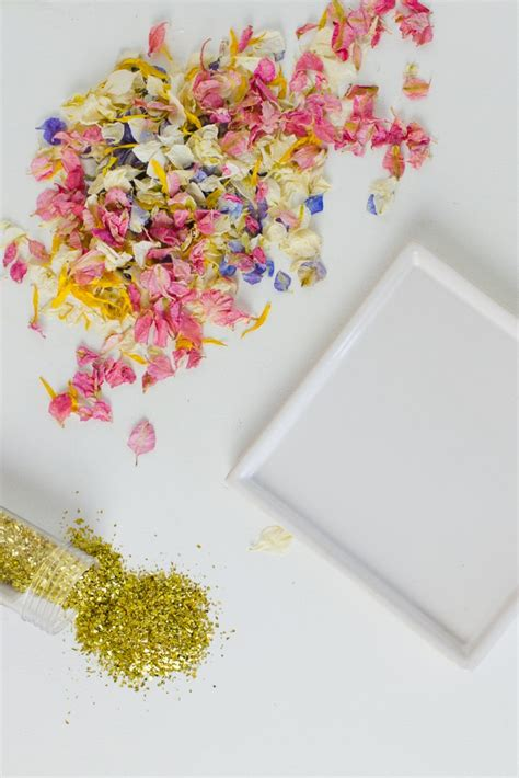 diy natural petal confetti tray bespoke bride wedding blog