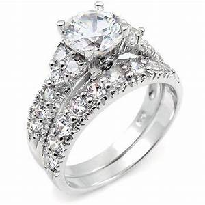 Cheap discount 10k two tone gold his hers trio cz for Low cost wedding ring sets
