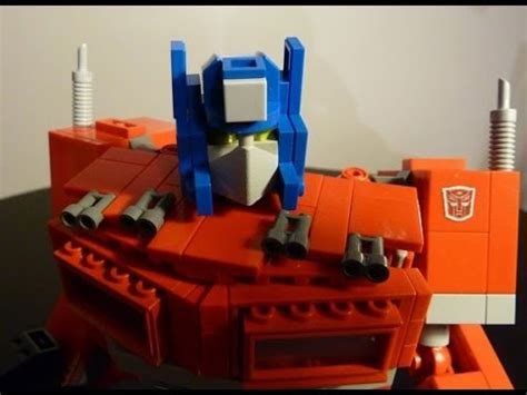 optimus prime a g1 lego transformers creation by bwtmt