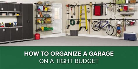 How To Organize A Garage On A Tight Budget  Doing It The