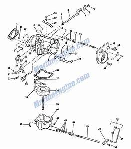 Manual Start Carburetor Group Parts For 1965 33hp 33502