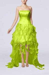 Apple Green Cocktail Dresses Ruffles UWDress