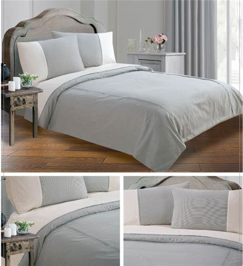 gray quilt bedding grey black colour minimalist striped design duvet quilt