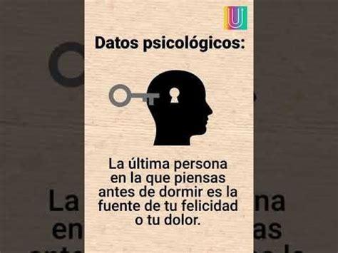 Datos psicológicos - YouTube | Sabias que datos curiosos ...