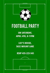 Birthday Party Invitation Templates Online Free Soccer Night Free Sports Games Invitation Template