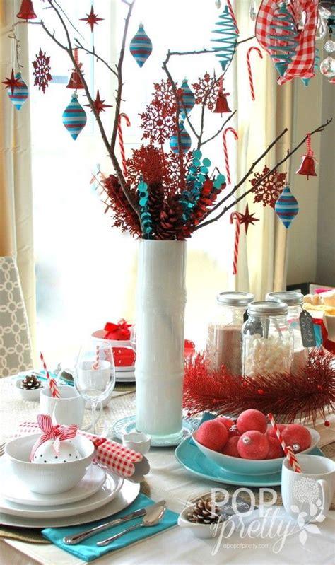 red aqua cheerful christmas table christmas red