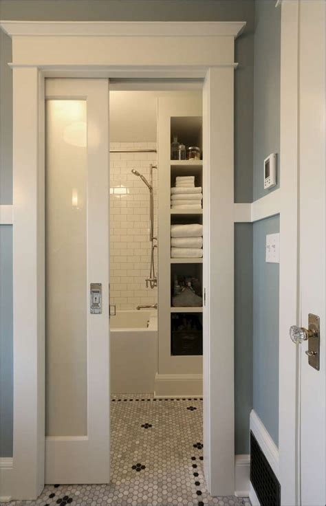 pocket doors  small bathrooms