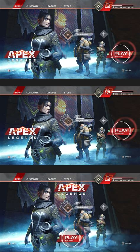 artstation menu layout concepts brad allen legend