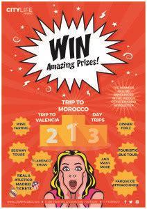 win amazing prizes  week citylife madrid