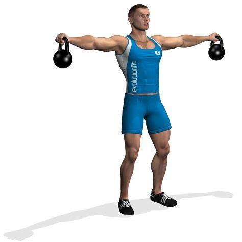 kettlebell lateral raises raise standing exercises abs kettle bell visit