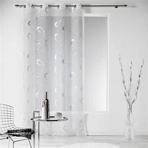 Voilage Gris Et Blanc : rideau et voilage rideaux rideaux occultant voilage ~ Dailycaller-alerts.com Idées de Décoration