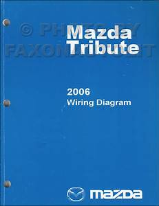 2006 Mazda Tribute Repair Shop Manual Original