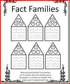 Fact Family Worksheets 1st Grade