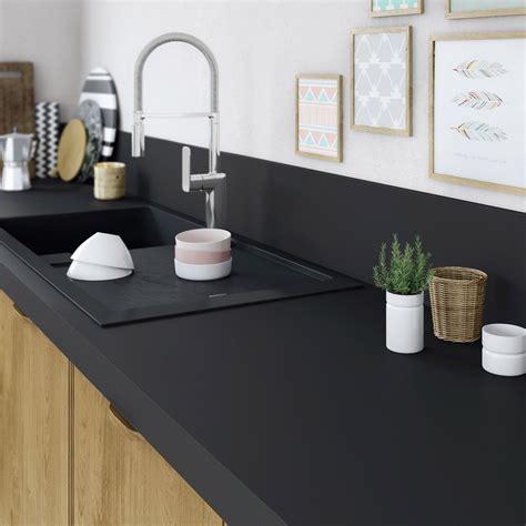 pose cuisine schmidt plan de travail stratifié mat edition noir mat l 315 x p
