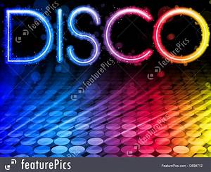 Graphic Letters Letters And Numbers Disco Background Stock Illustration